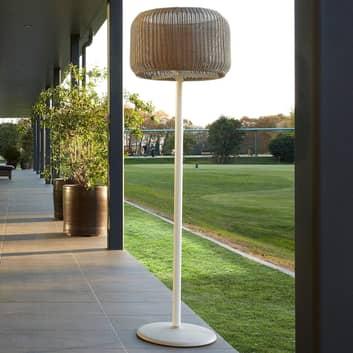 Bover Fora P - udendørs standerlampe, hvid-beige