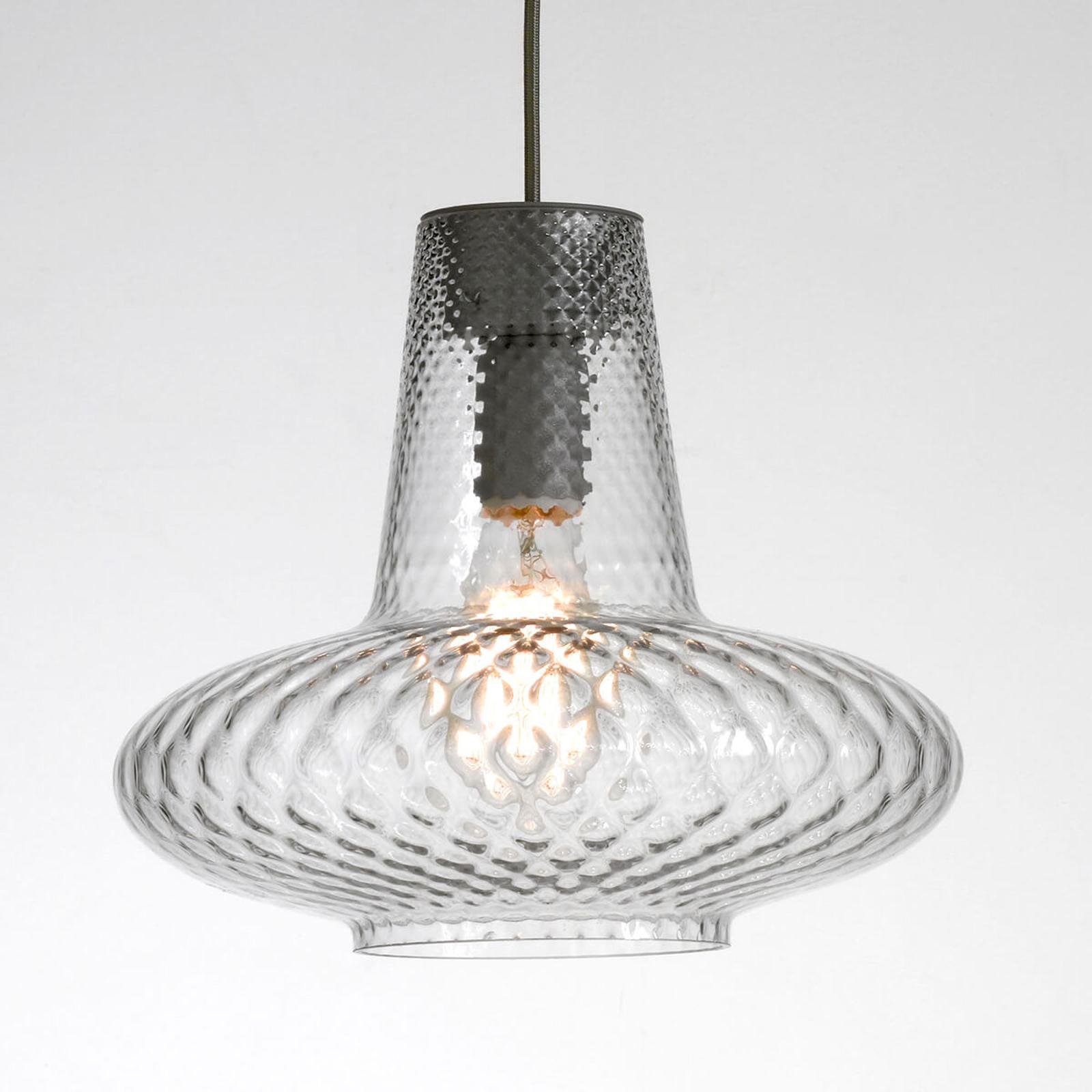 Szklana lampa wisząca Giulietta, przezroczysta