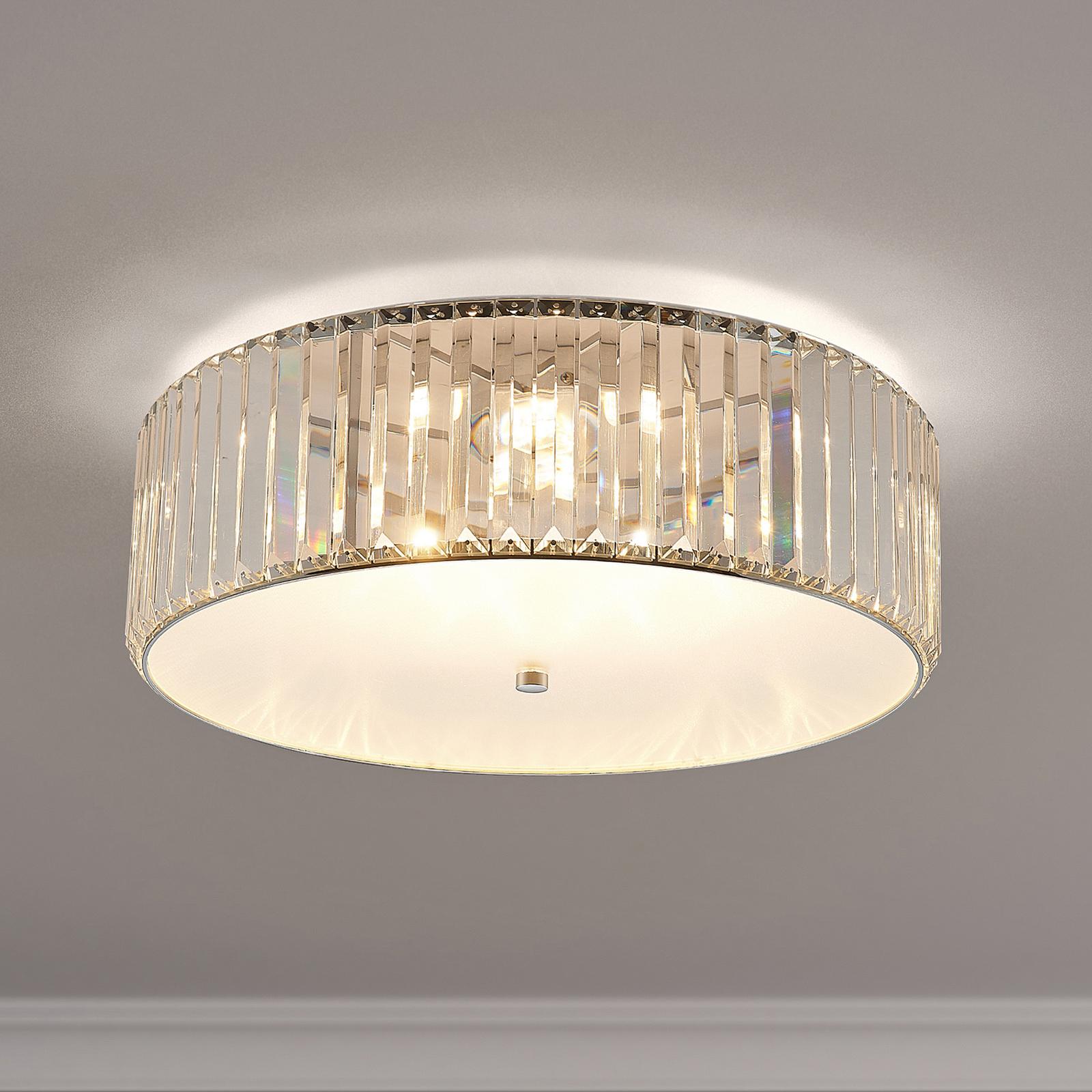 Lucande Alobani LED-taklampe med krystaller