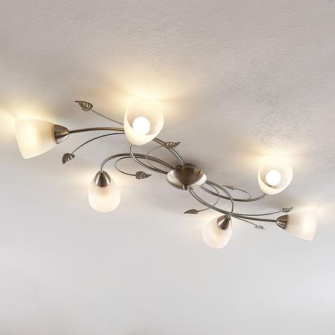 Lindby Yannie LED plafondlamp, 6-lamps