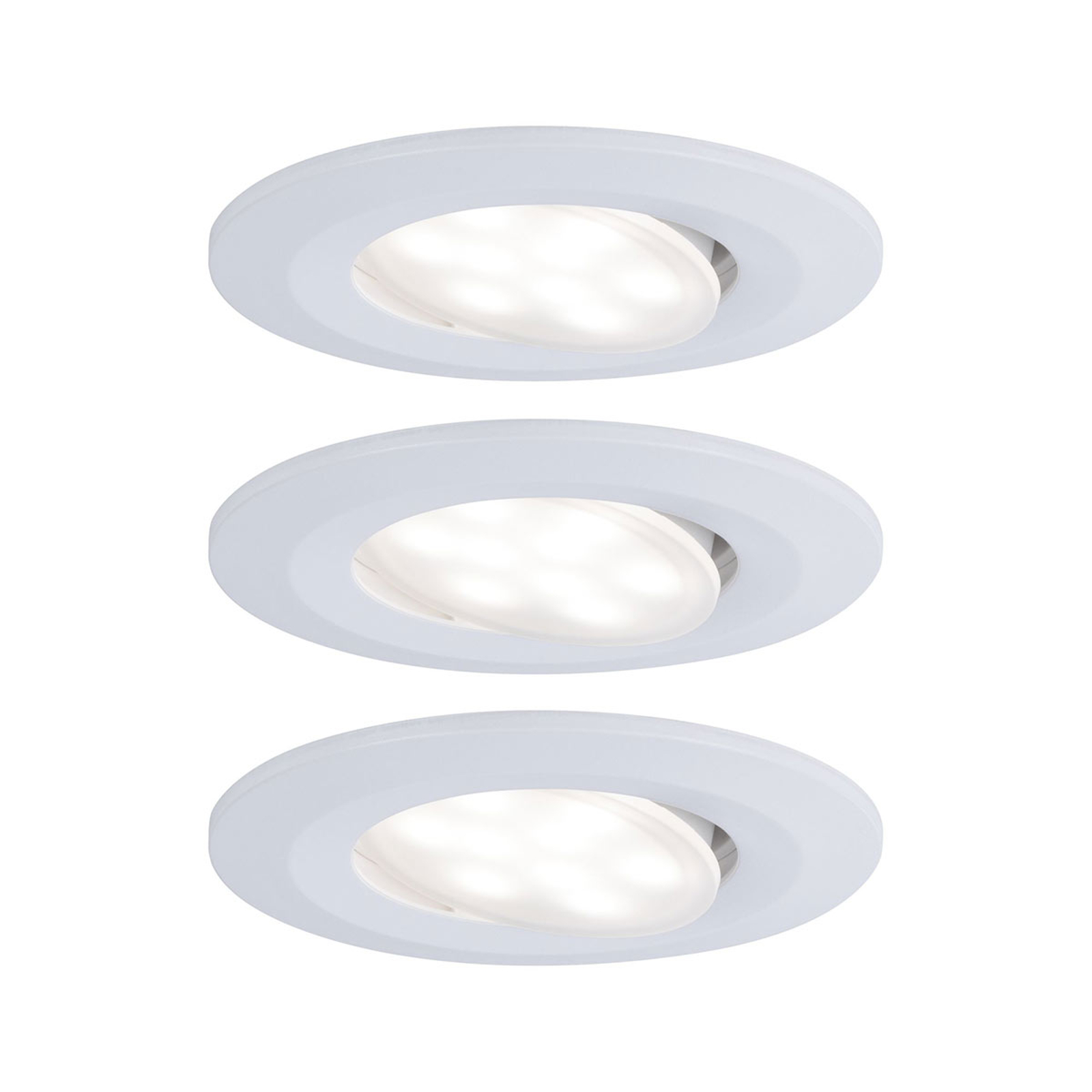 Paulmann LED-uppokohdevalo Calla 3 kpl valkoinen
