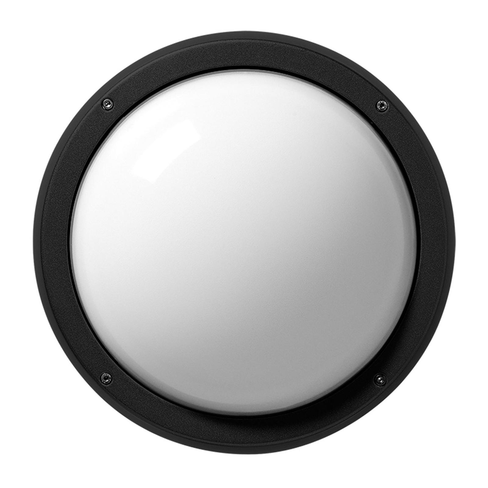 LED-vegglampe Eko+26 LED, 3000K, antrasitt