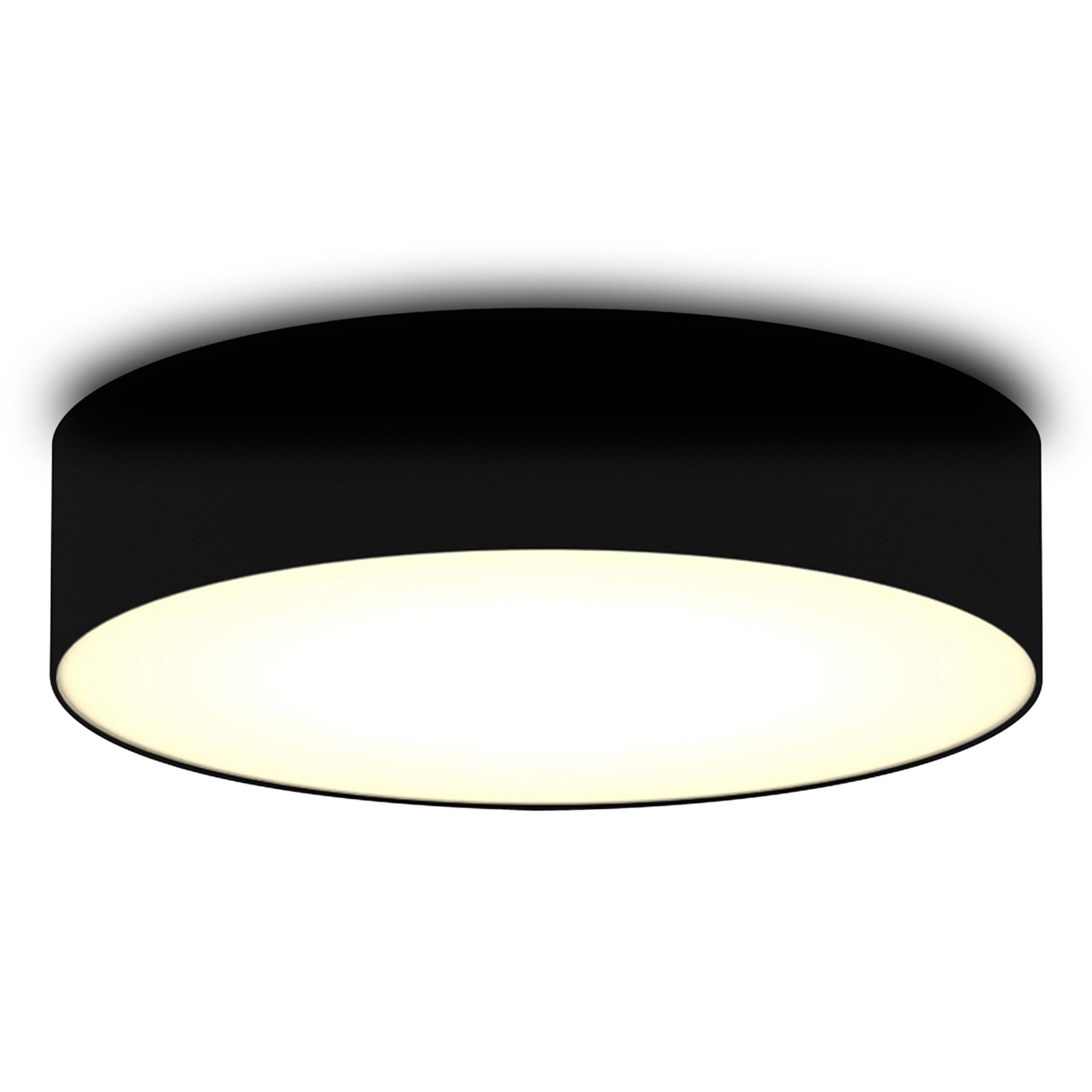 Zwarte textiel-plafondlamp Ceiling Dream 40 cm