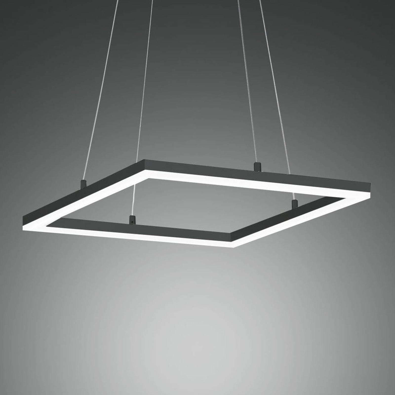 Suspension LED Bard 42x42cm, anthracite
