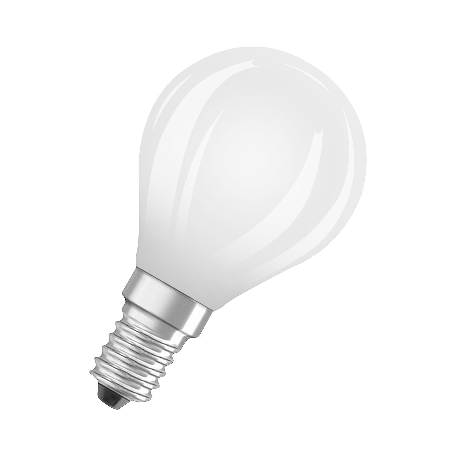 OSRAM LED-dråpepære E14 6,5 W 827 dimbar matt