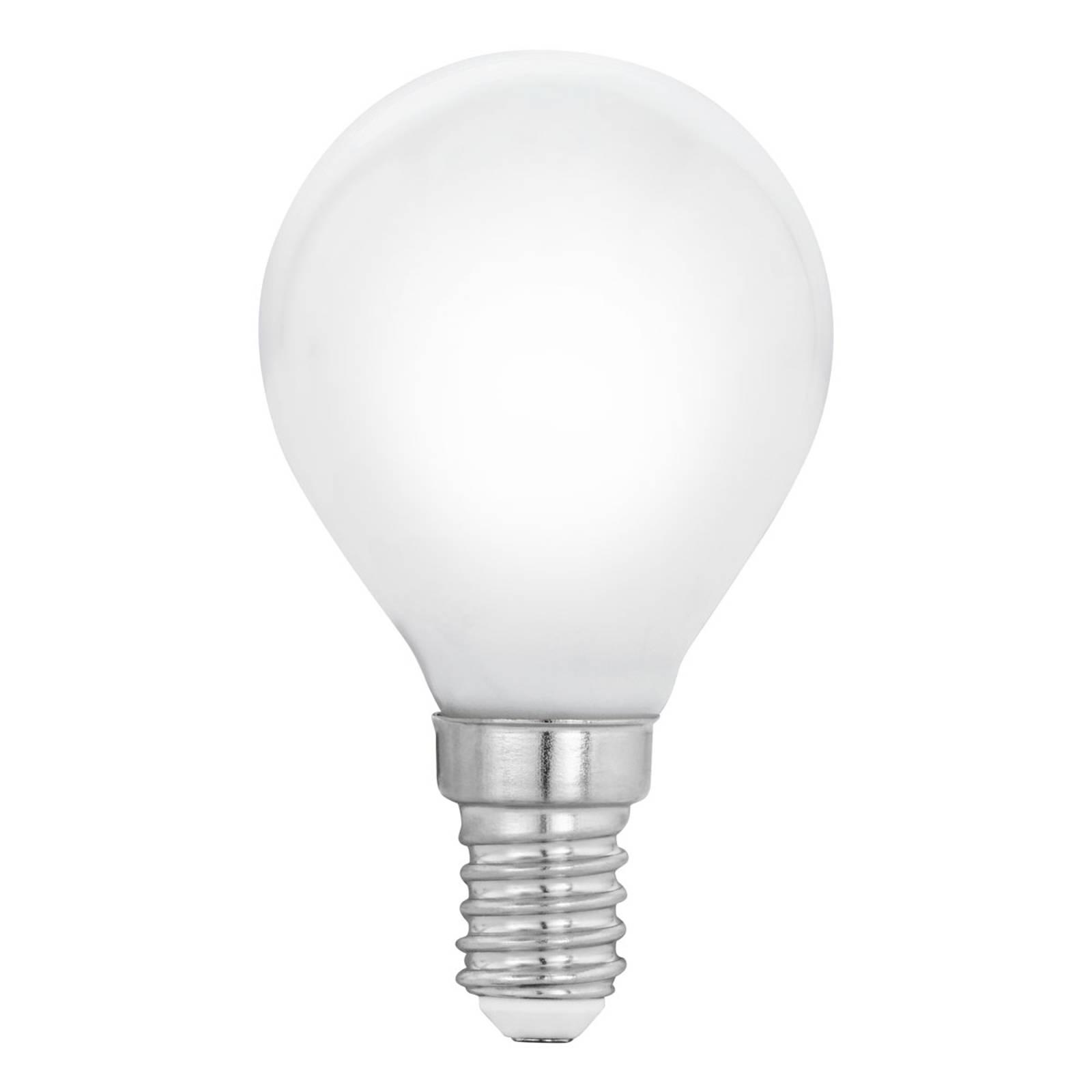 E14 P45 4W LED, bianco caldo, satinato