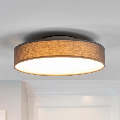 Lámpara de techo LED de tela Saira, 30 cm, gris