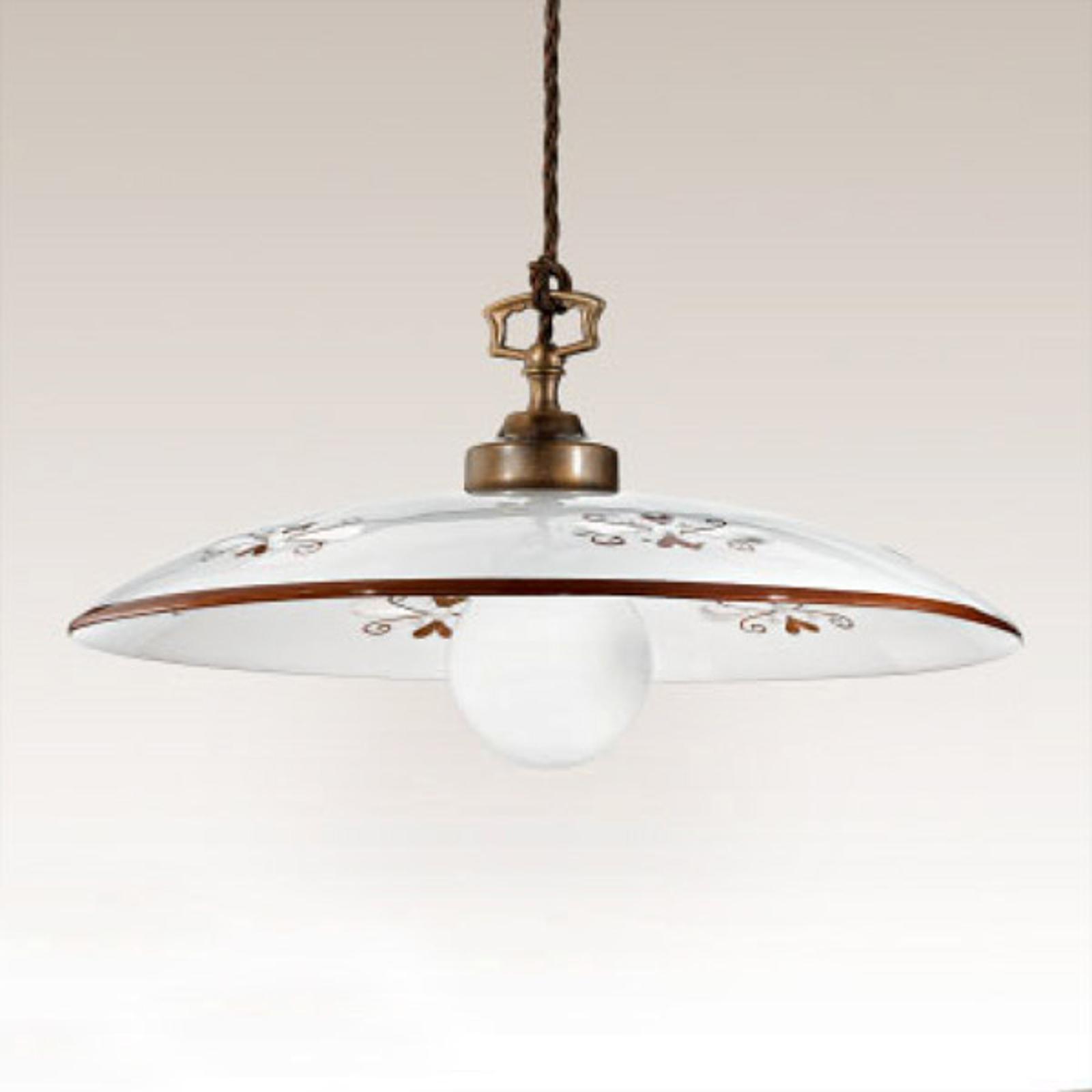 Lámpara colgante Bassano, 1 luz, detalles marrón