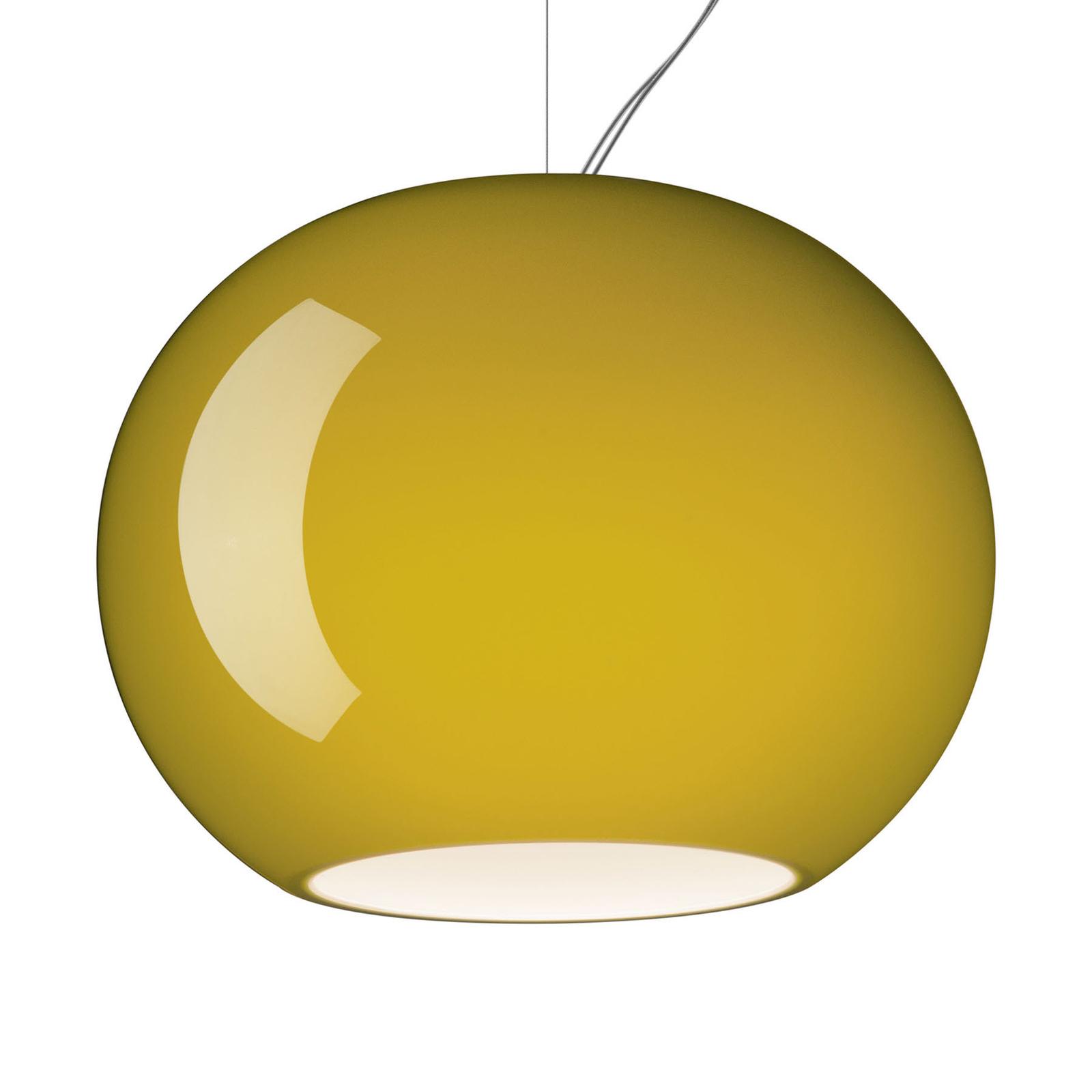 Foscarini Buds 3 LED-Pendelleuchte, E27 gelbgrün