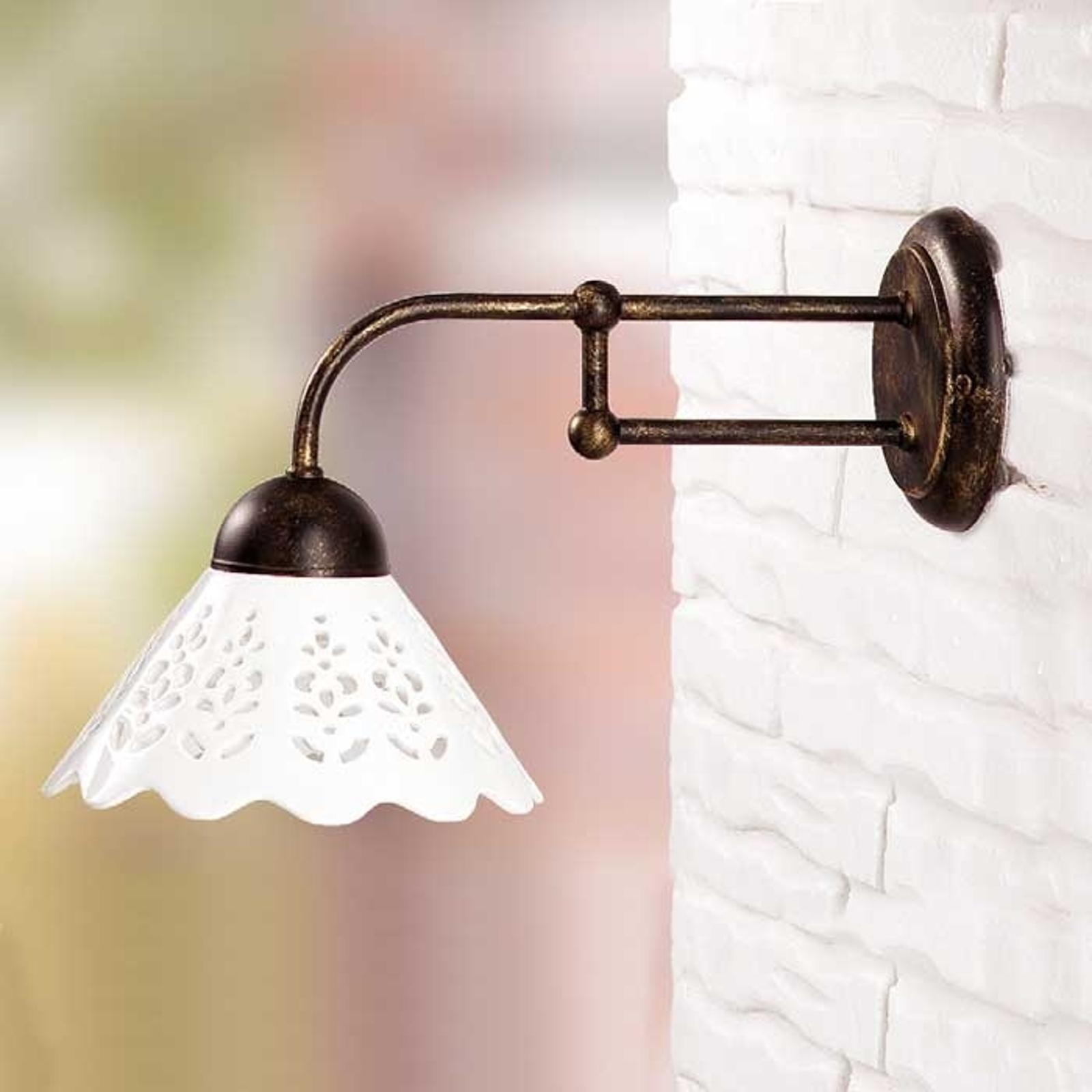 Lille væglampe I PORTICI 18 cm