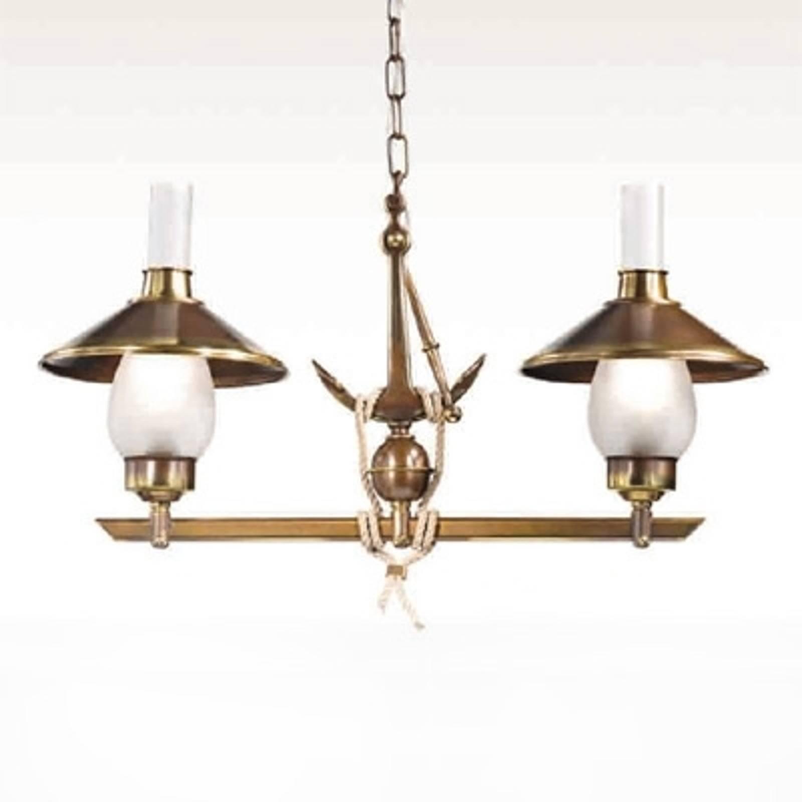 2-lichts hanglamp Grecale met anker