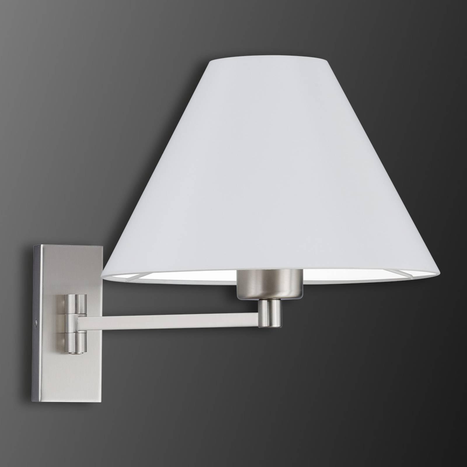 Draaibare wandlamp Verux met Honan-kap