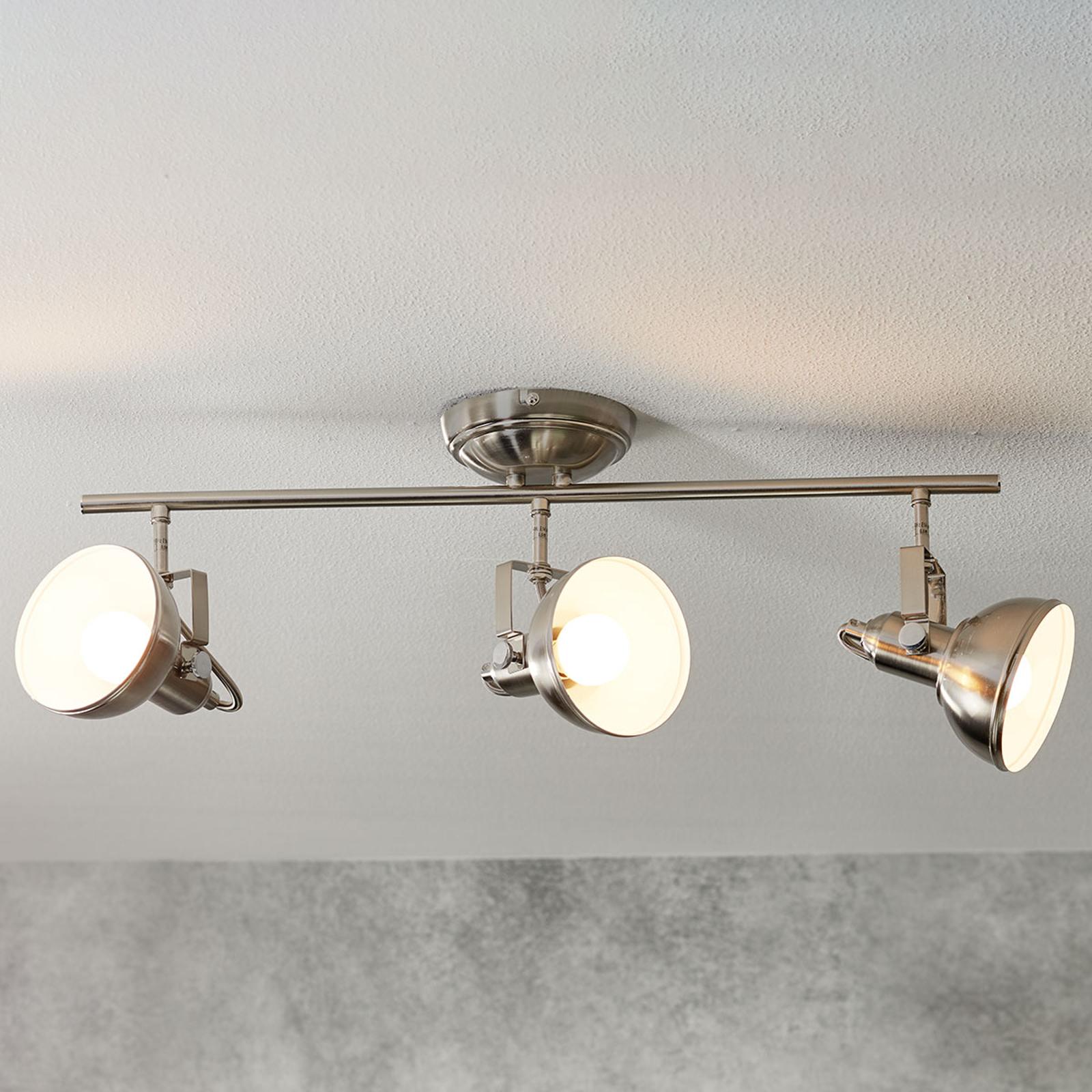Gina - plafonnier à 3 lampes au look industriel