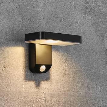 Rica Square LED-solcellevæglampe, kantet