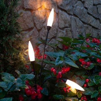 Lampione da etserni Espiga, 3 luci