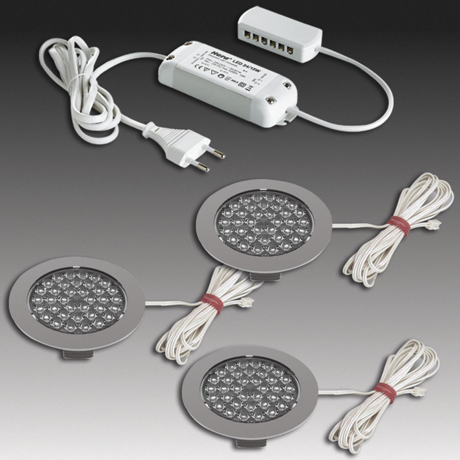 Produktové foto HERA R 68-LED podhledové bodové svítidlo, 5dílná sada