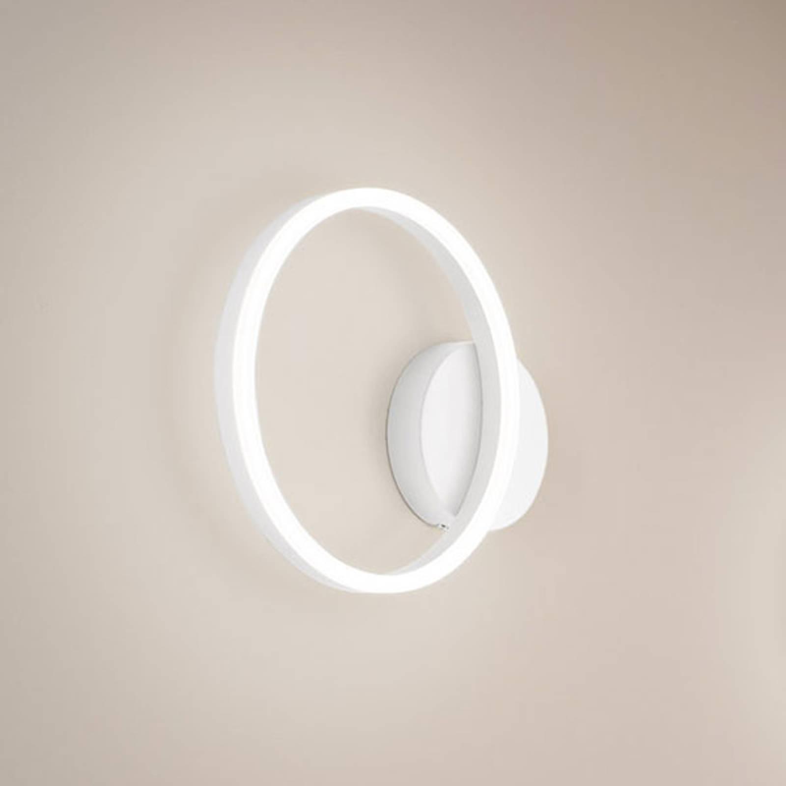 LED-Wandleuchte Giotto, einflammig, weiß