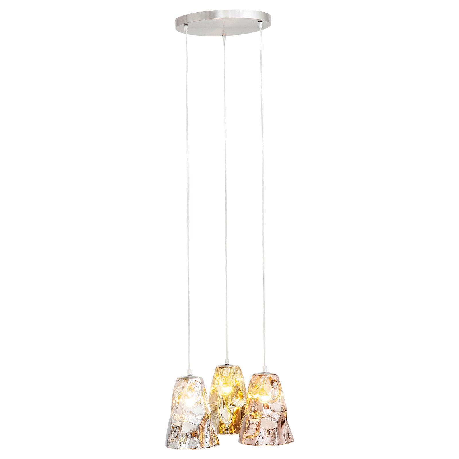 KARE Crumble Tricolore lampa wisząca, Ø 57 cm