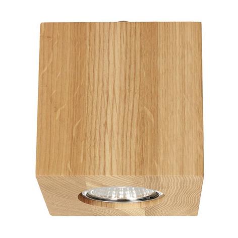 Wooddream taklampe, 1 lyskilde eik, kantet, 10 cm