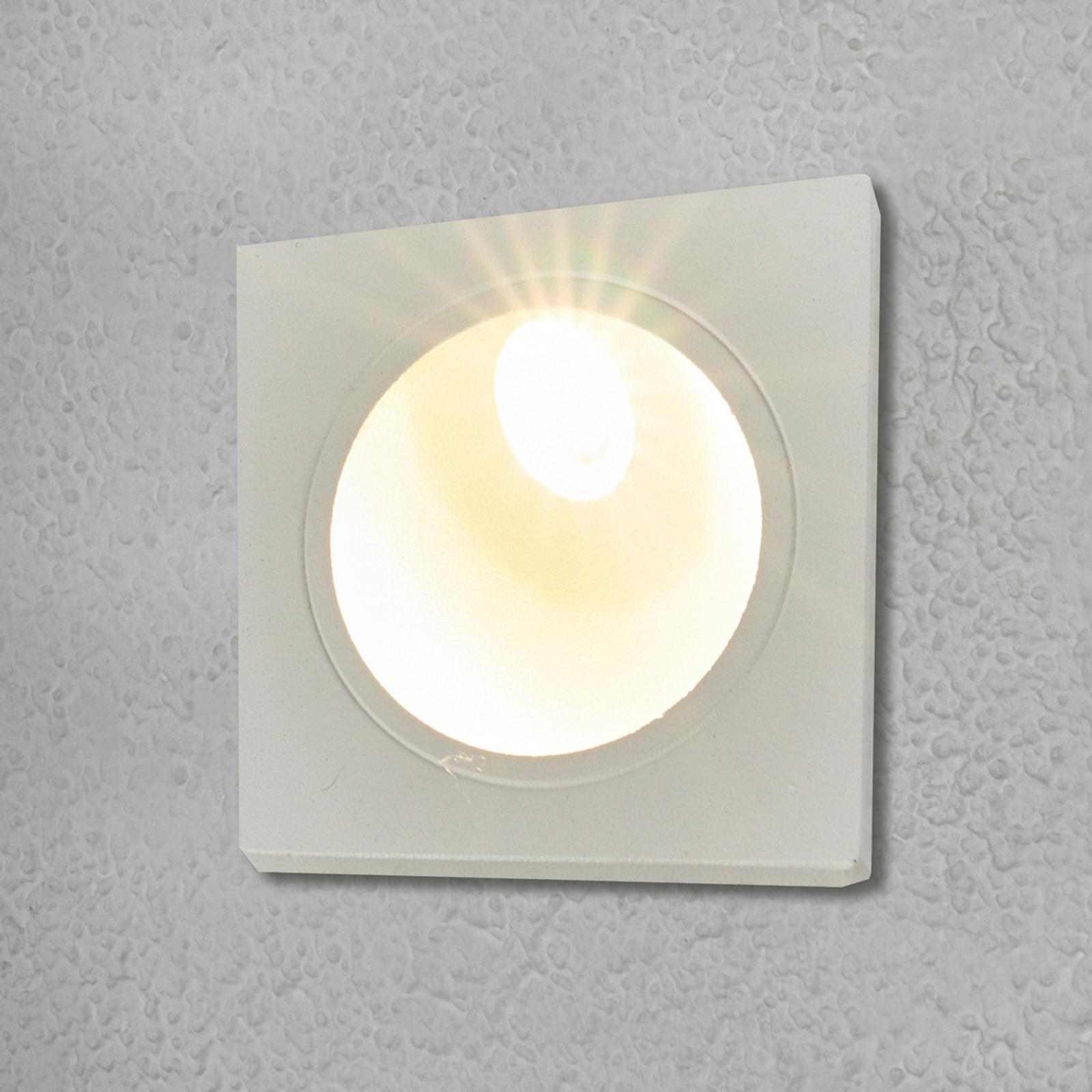Innfelt vegglampe Ian til utebruk med LED-lys