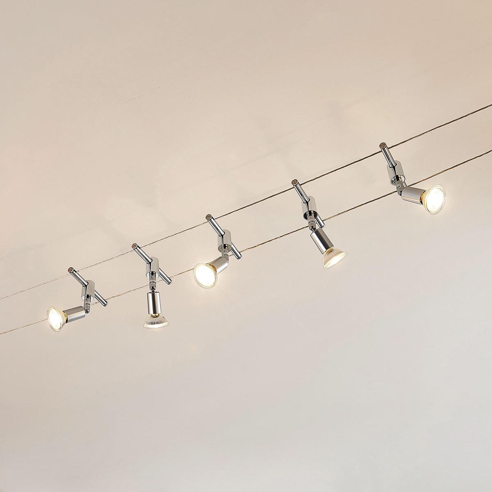 Kabelsysteem Rope met LED spots, 5-lamps