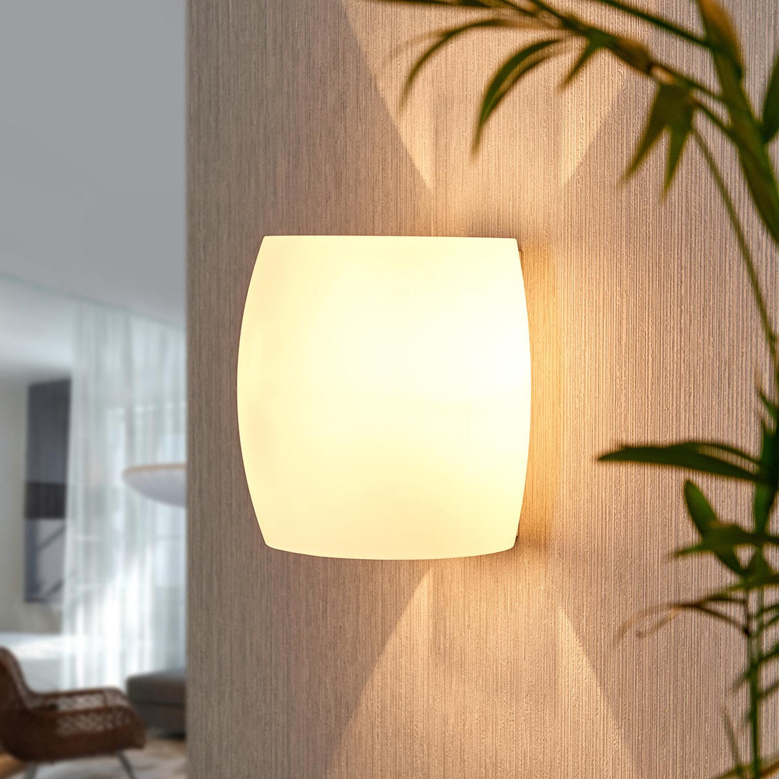 Glazen wandlamp Lusine