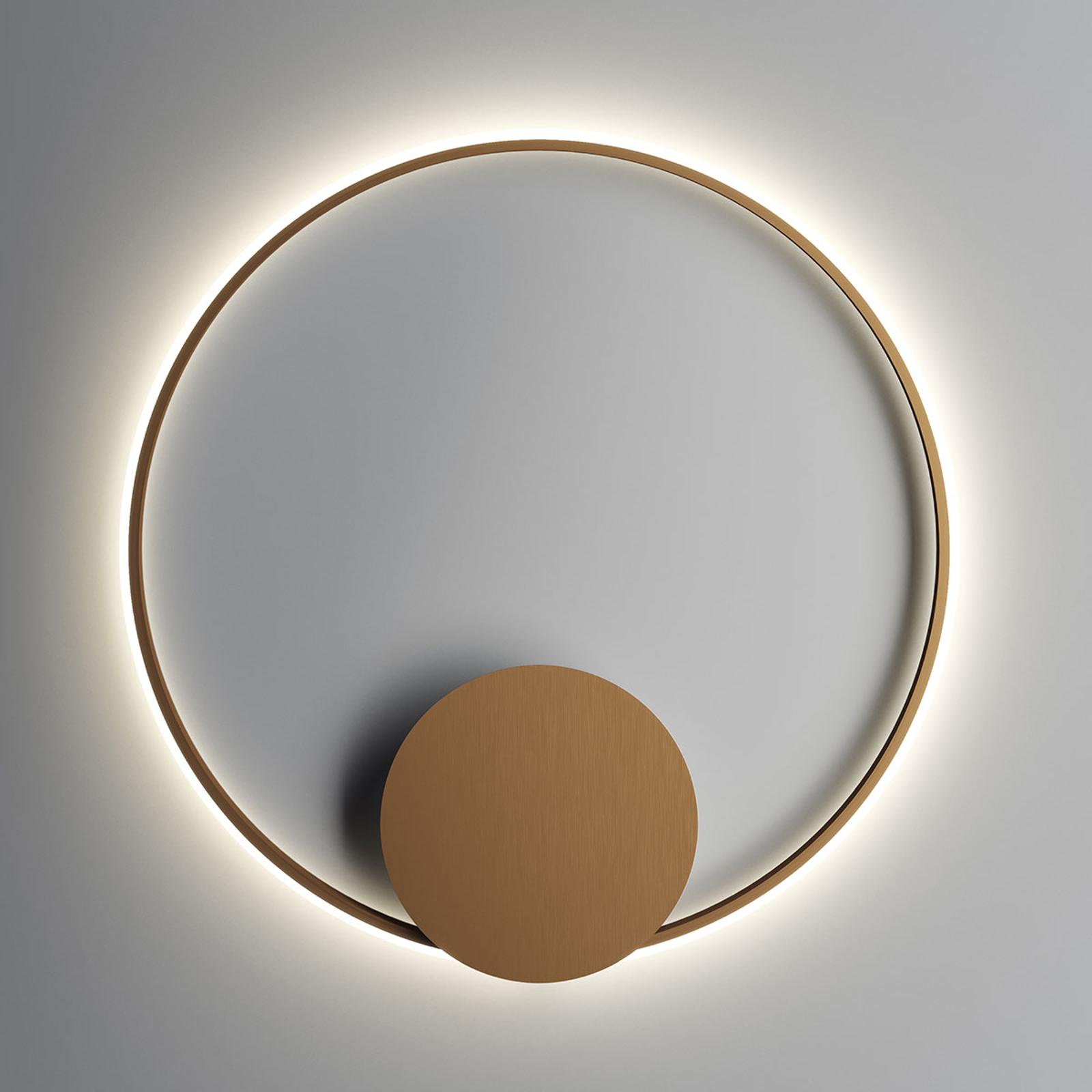 Fabbian Olympic LED-Wandleuchte Ø 80 cm bronze
