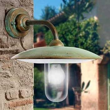 Venkovní nástěnné svítidlo Casale, měď čiré sklo