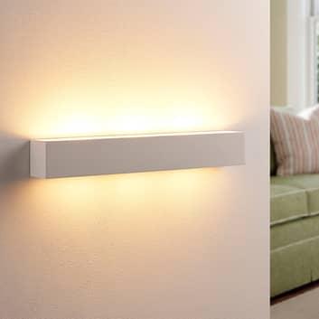 Tjada - längliche LED-Wandlampe aus Gips