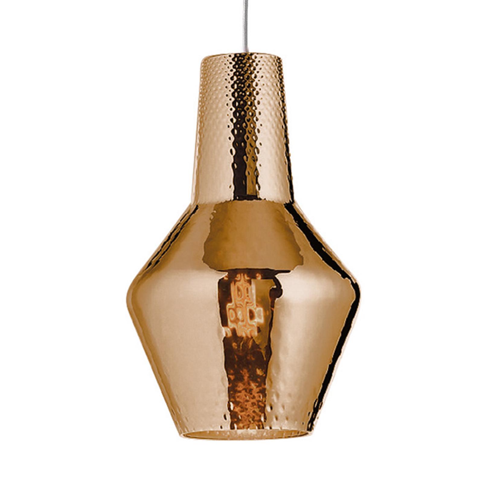 Lampa wisząca Romeo 130cm, brąz metalik