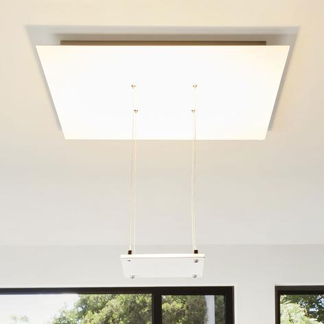 Plafonnier LED blanc Marlou, lumière indirecte