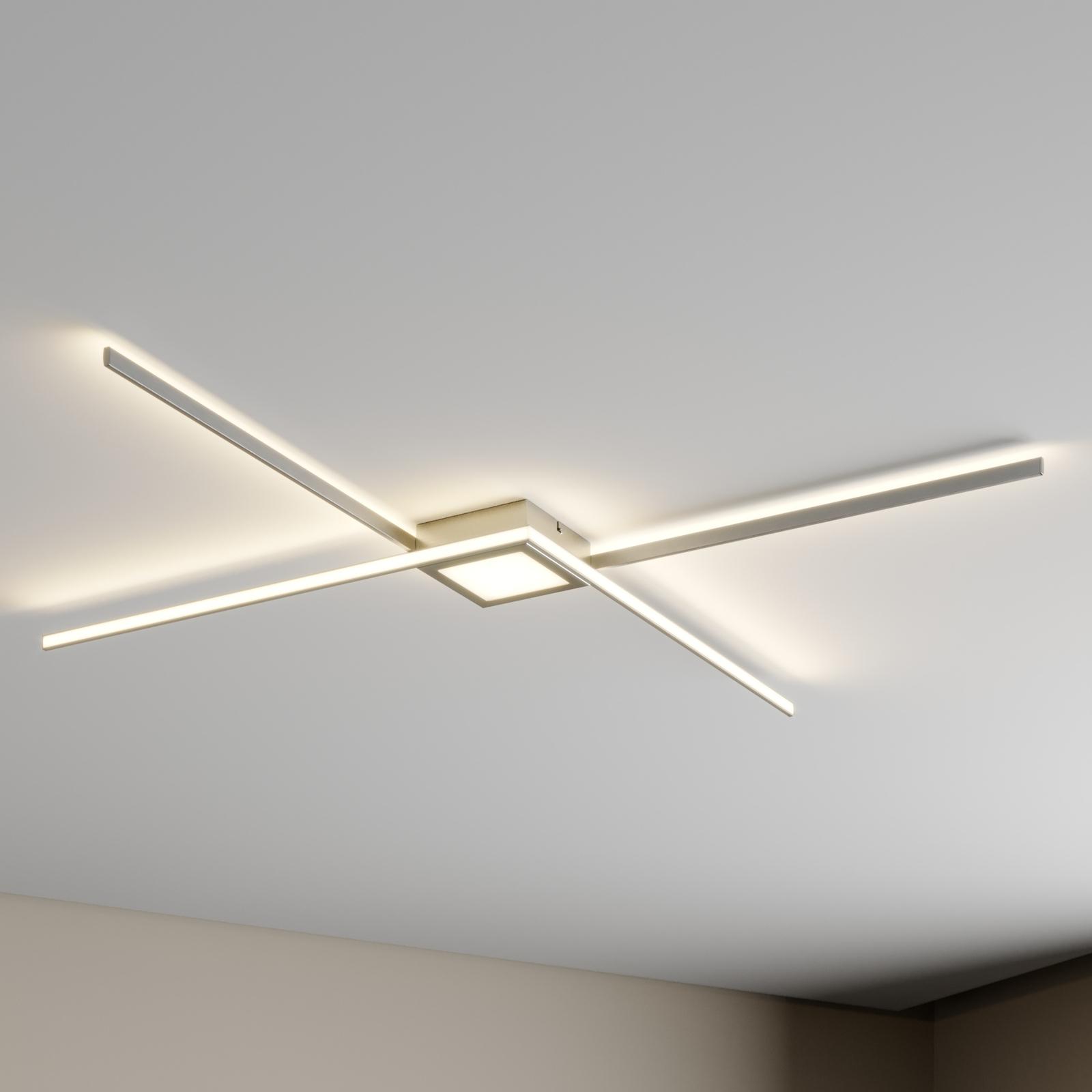 Lindby Makoto plafoniera LED, dimming a 3 stadi