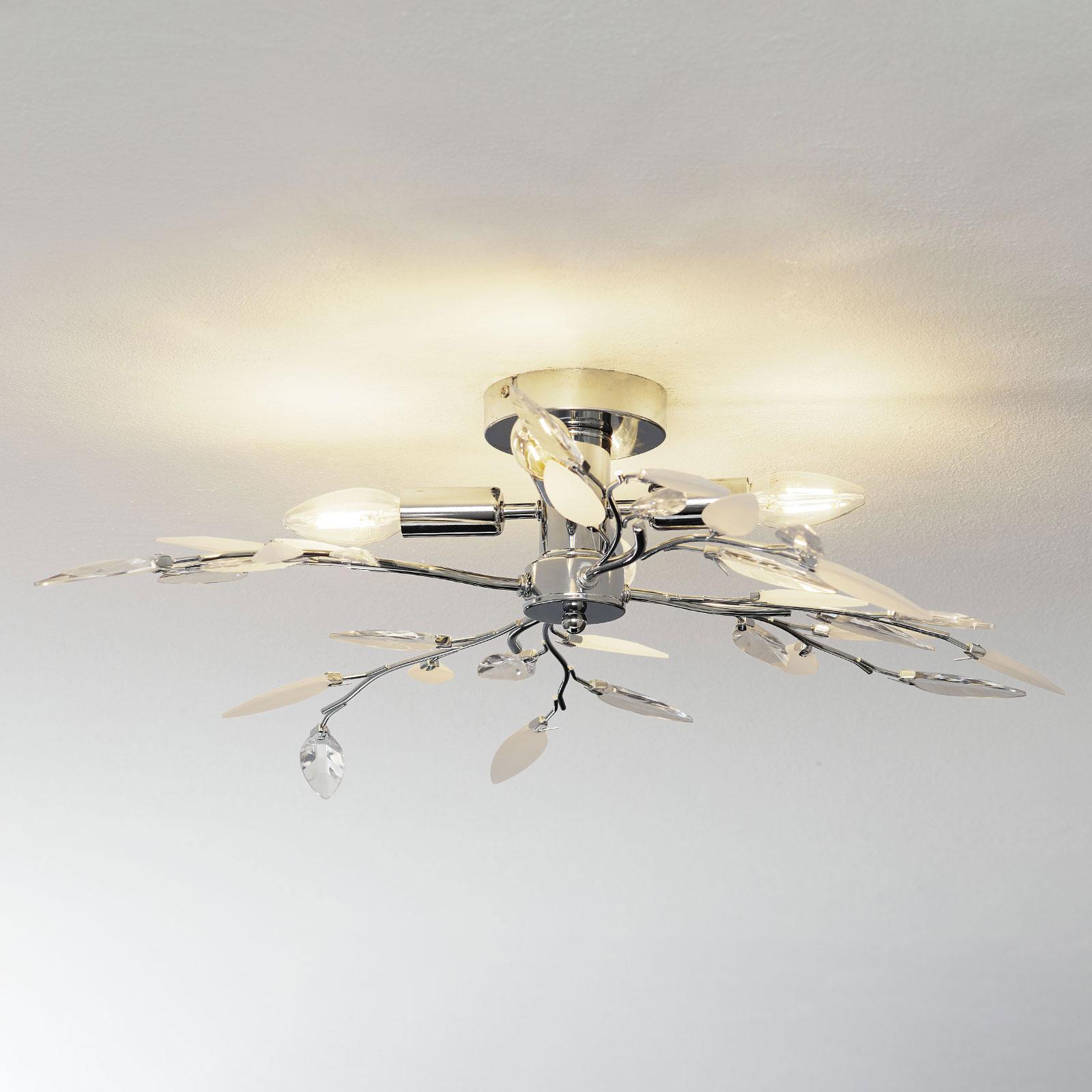 Nottingham - dekorativ taklampe i kromoptikk