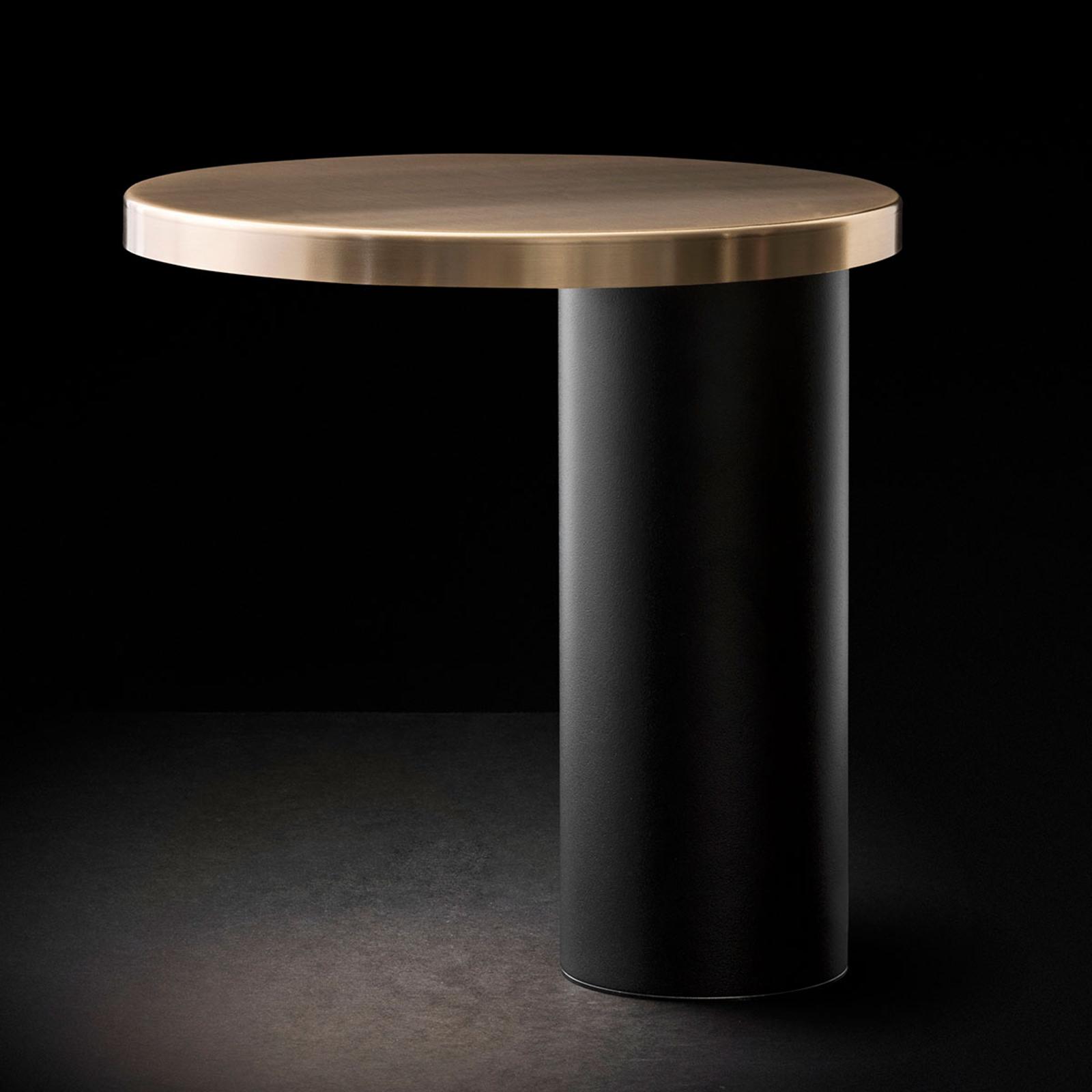 Oluce Cylinda LED tafellamp zwart-goud