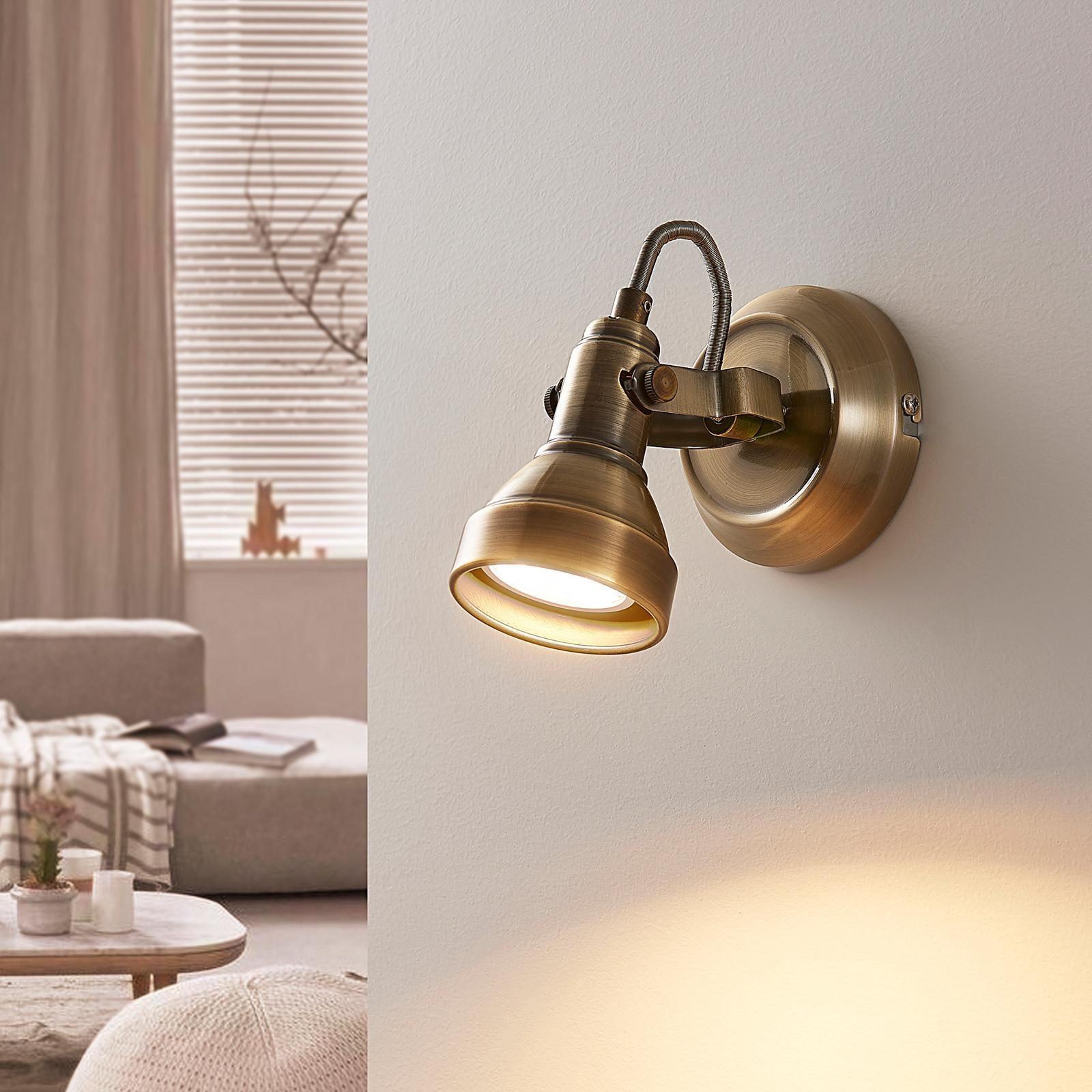 Reflektor sufitowy LED PERSEAS, antyczny mosiądz