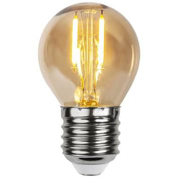 LED-pære E27 0,23W G45 filament 24V rav sett m 4