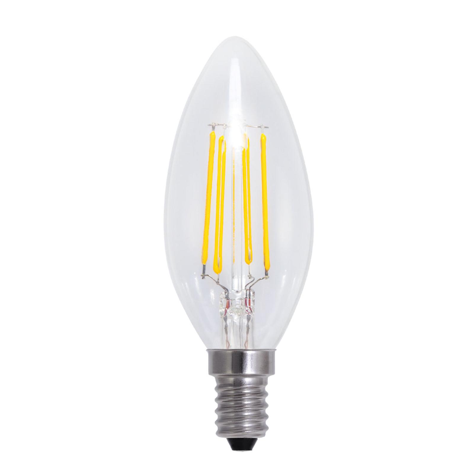 E14 4W 826 LED-Kerzenlampe in Kohlefadenoptik