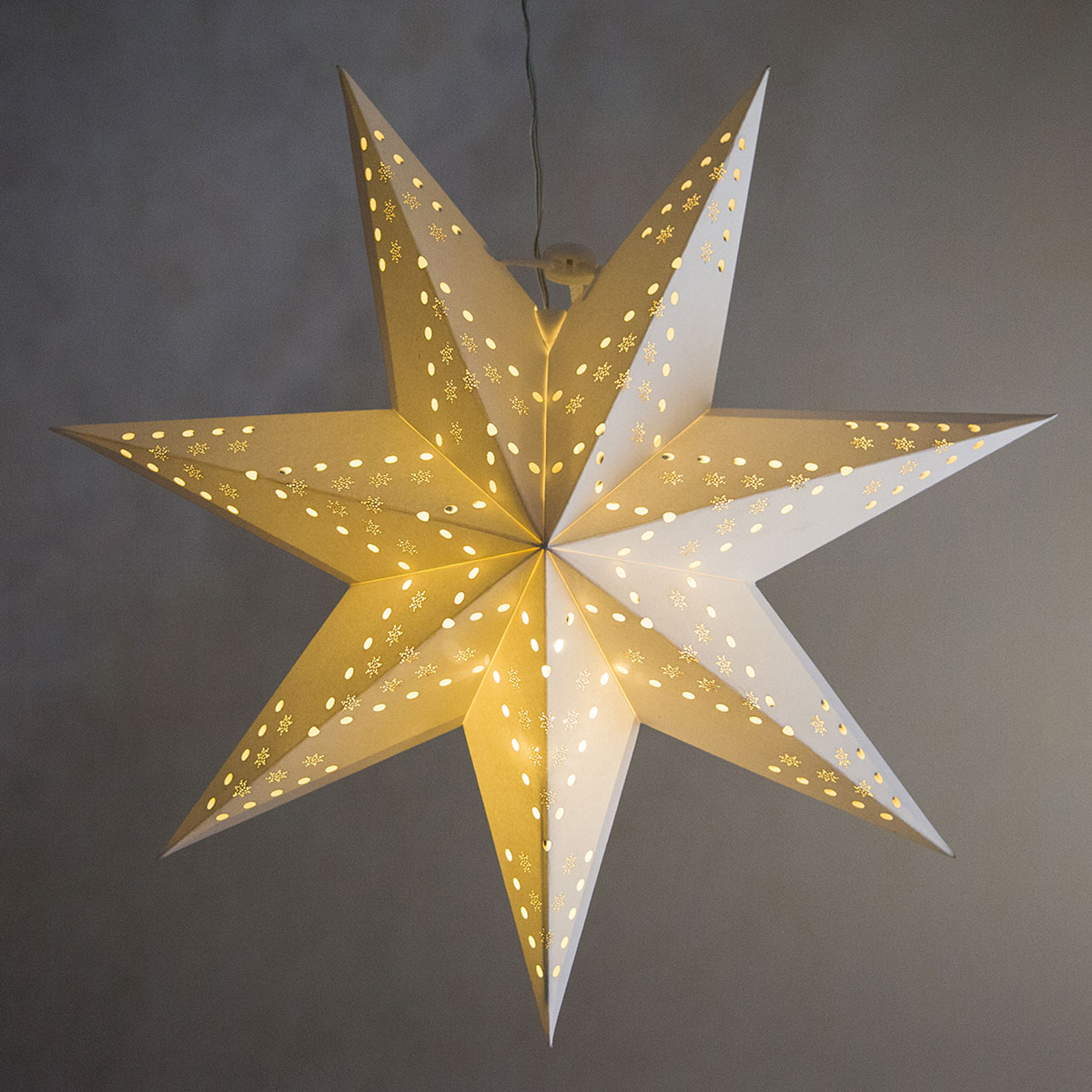 Hullmønster flak - LED-stjerne Cellcandle hvit