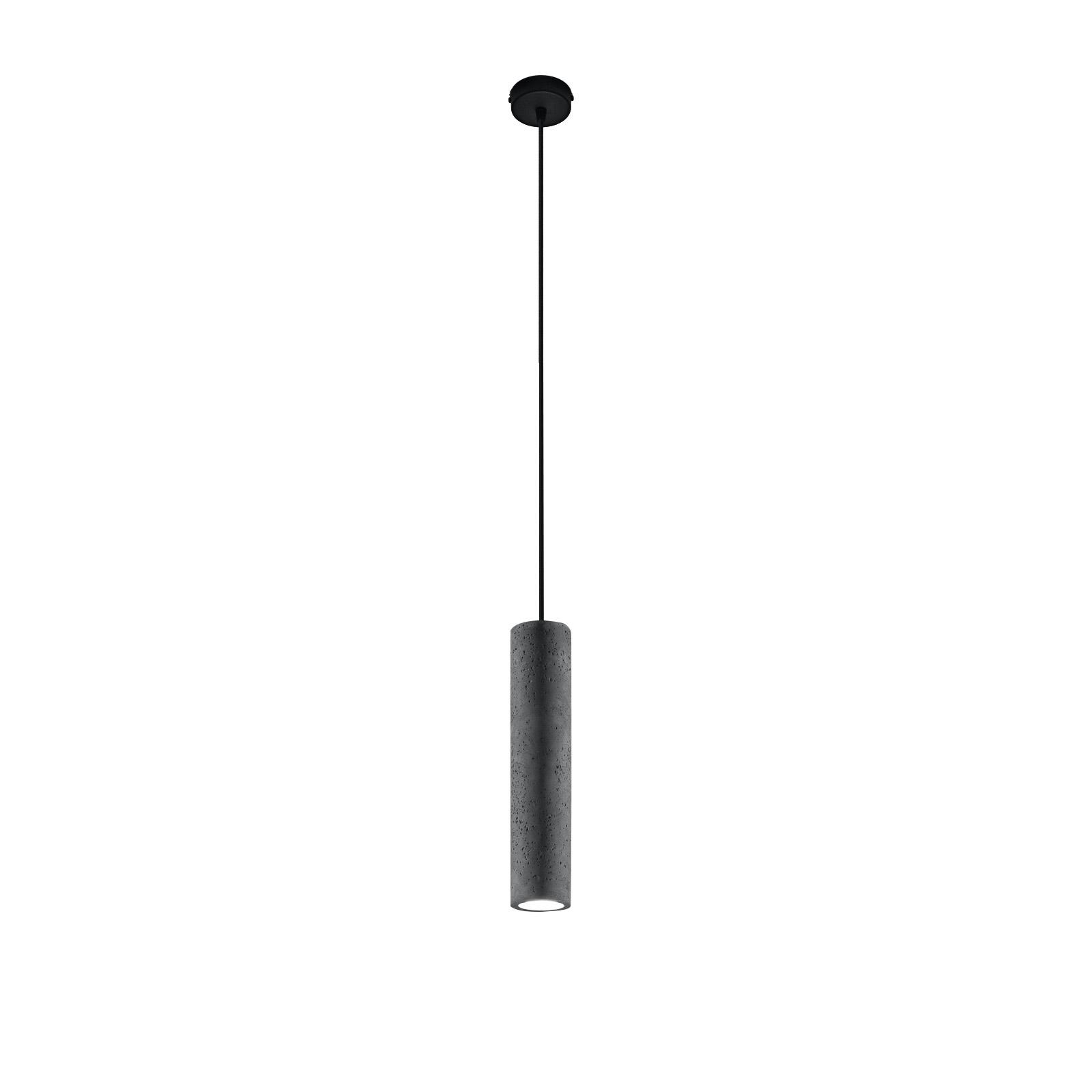 Lámpara colgante Tube de hormigón, 1 luz