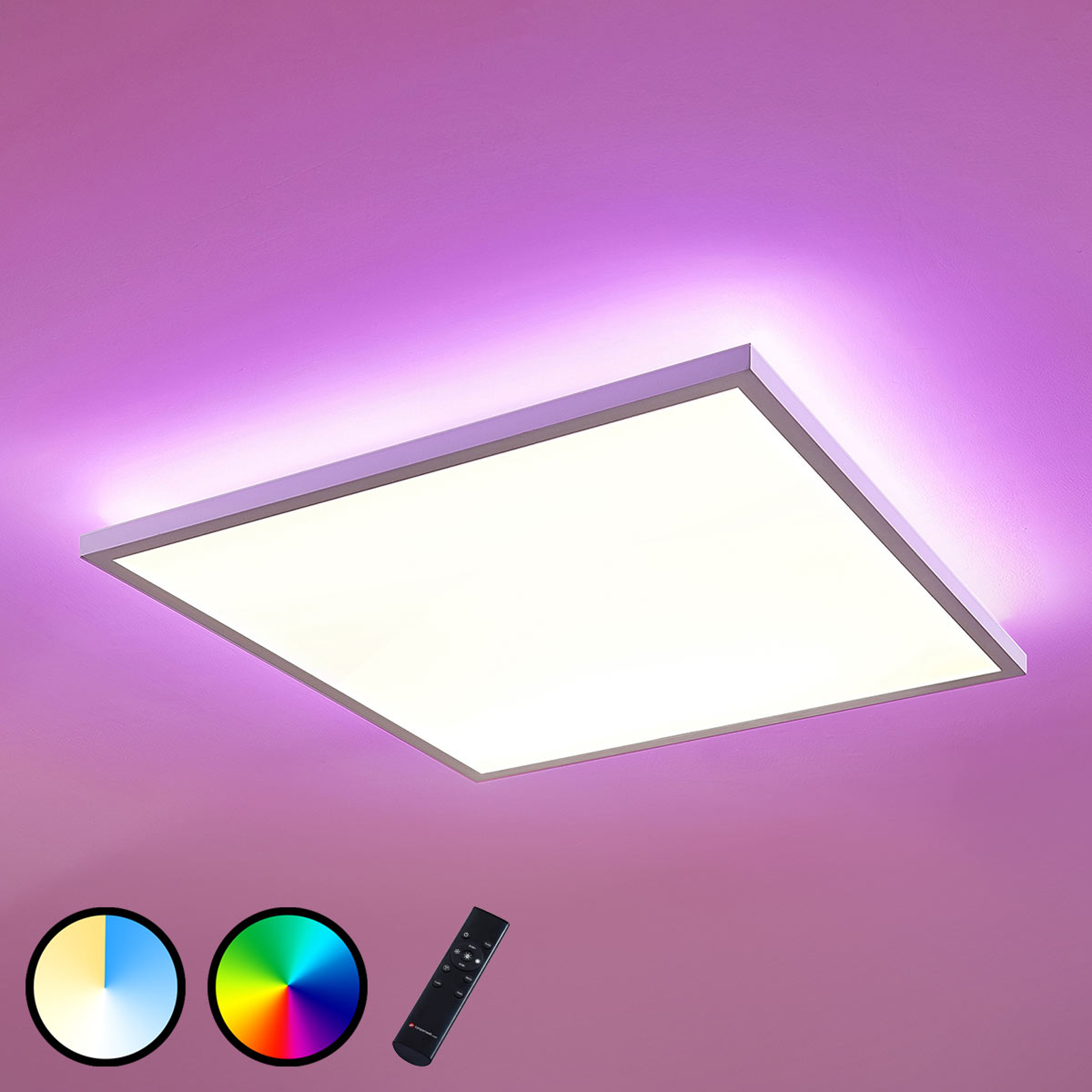 LED-panel Brenda CCT fjernbetjening, 60 x 60 cm
