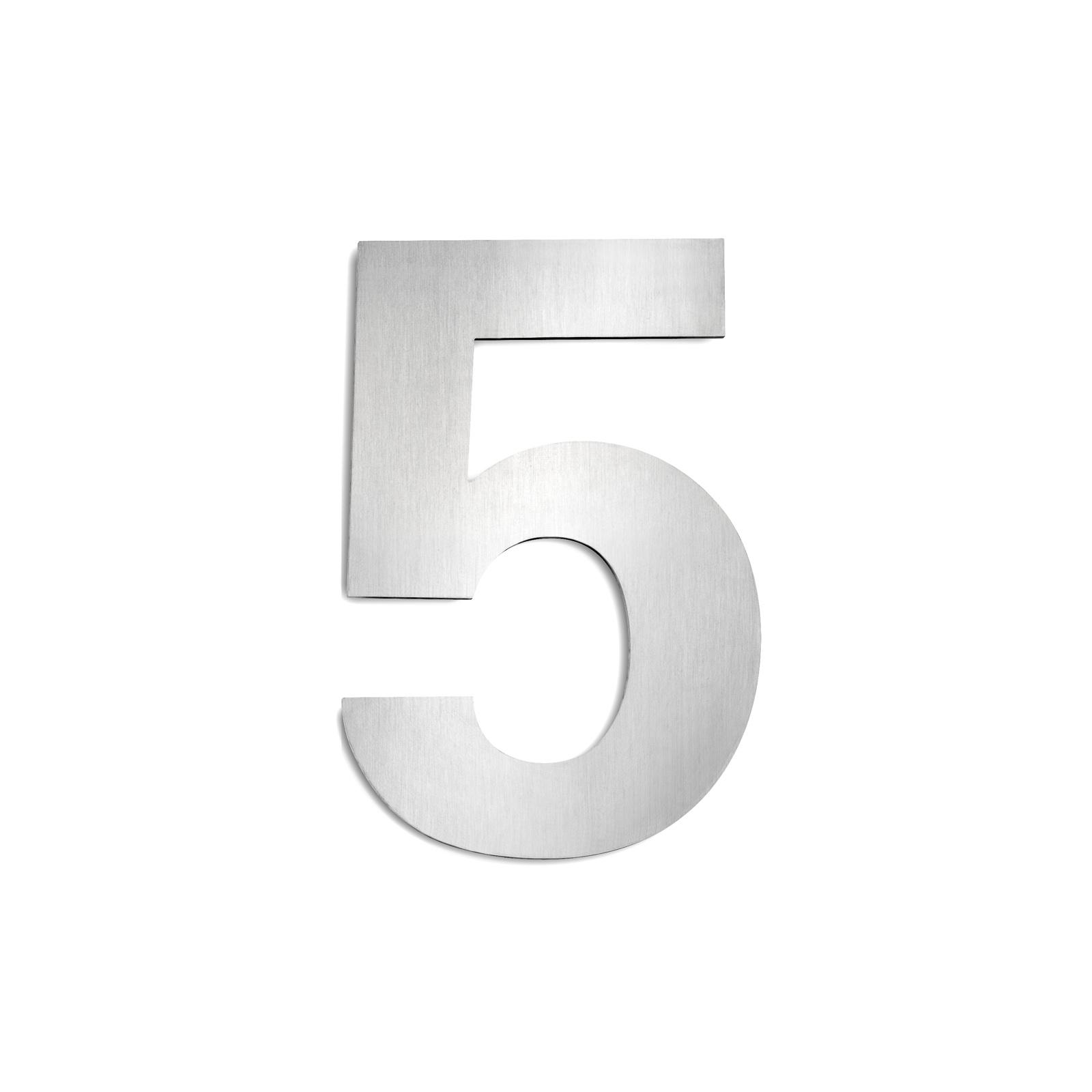 Domovní čísla z ušlechtilé oceli velikost 5