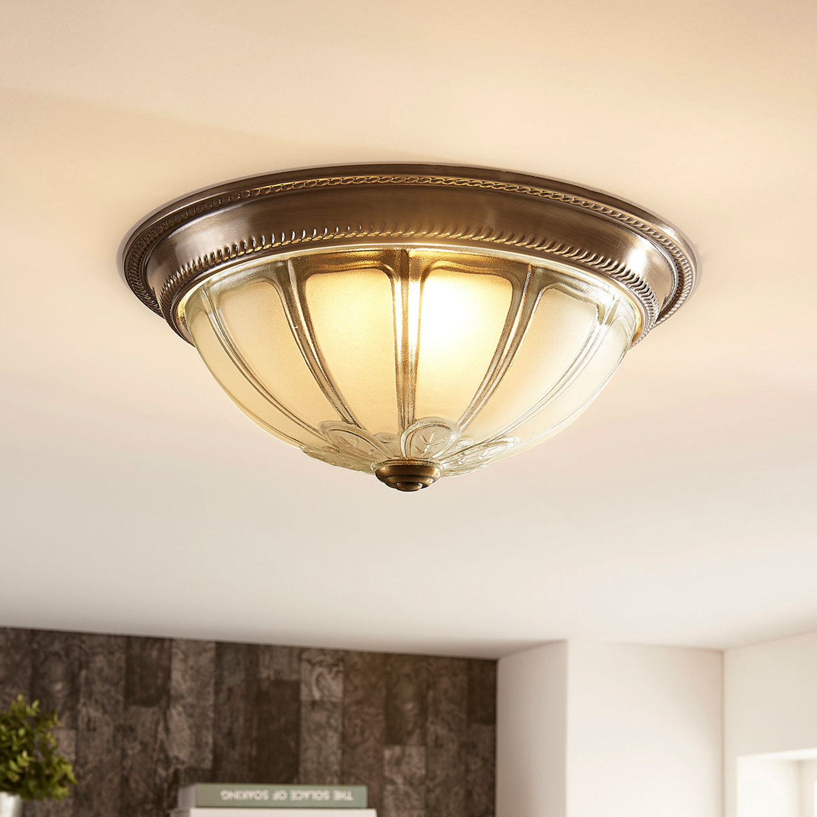 Plafonnier LED Henja rond, dimmable 3 positions