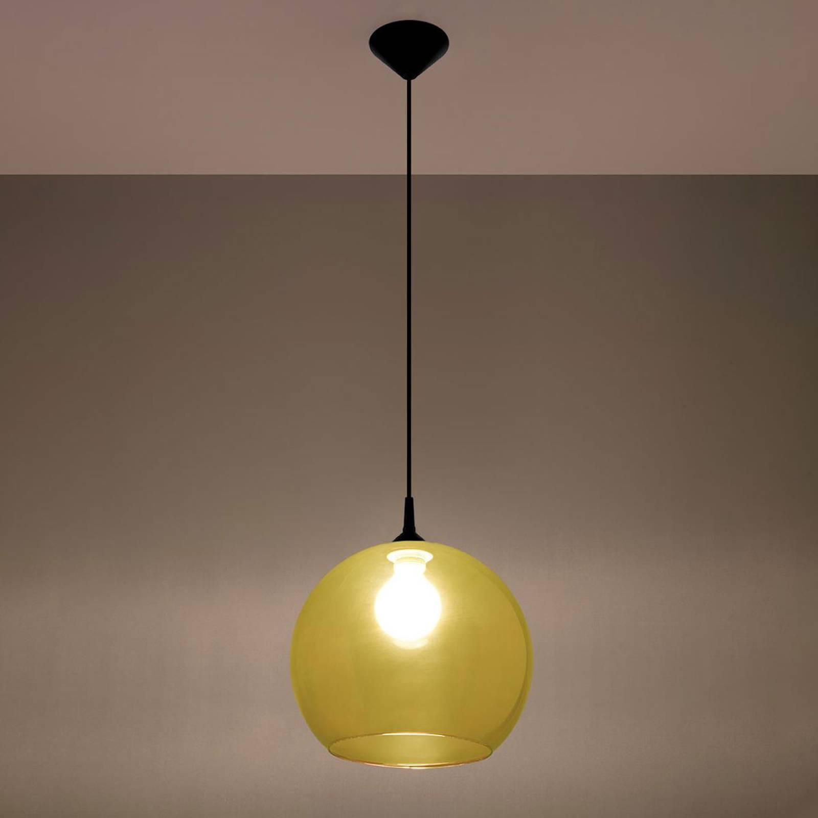 Lampa wisząca Colour szklany klosz żółty