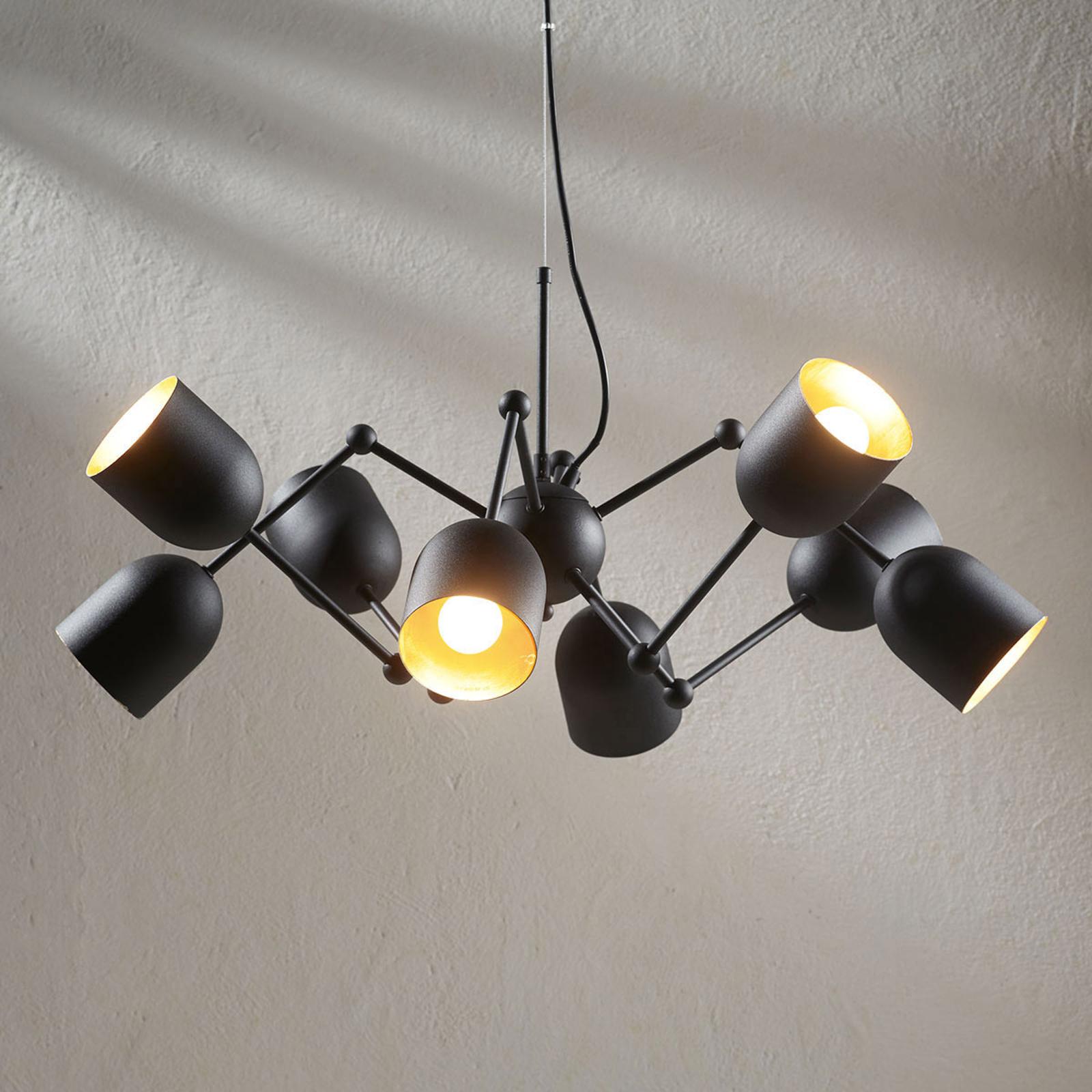 Suspension LED à 8 lampes Morik, easydim