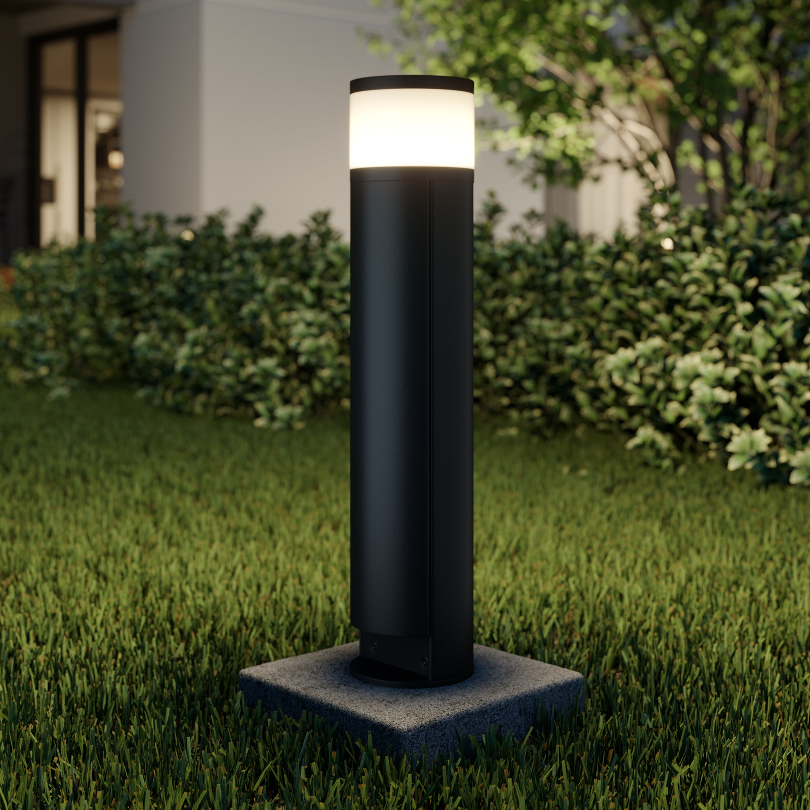 Lucande Corban lampa cokołowa LED, drzwiczki