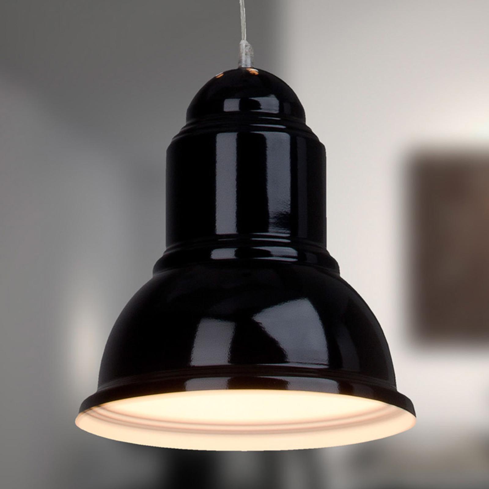 Černé závěsné světlo Almira