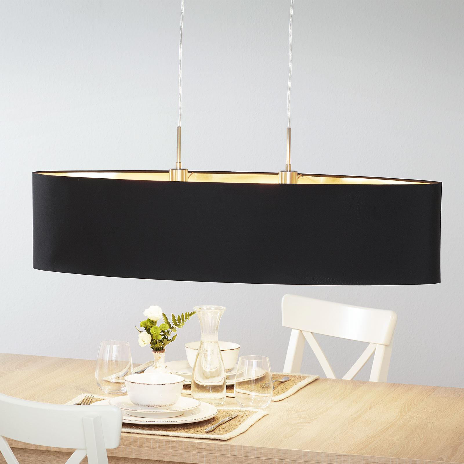 Lucande Patrik textiel-hanglamp 100cm zwart