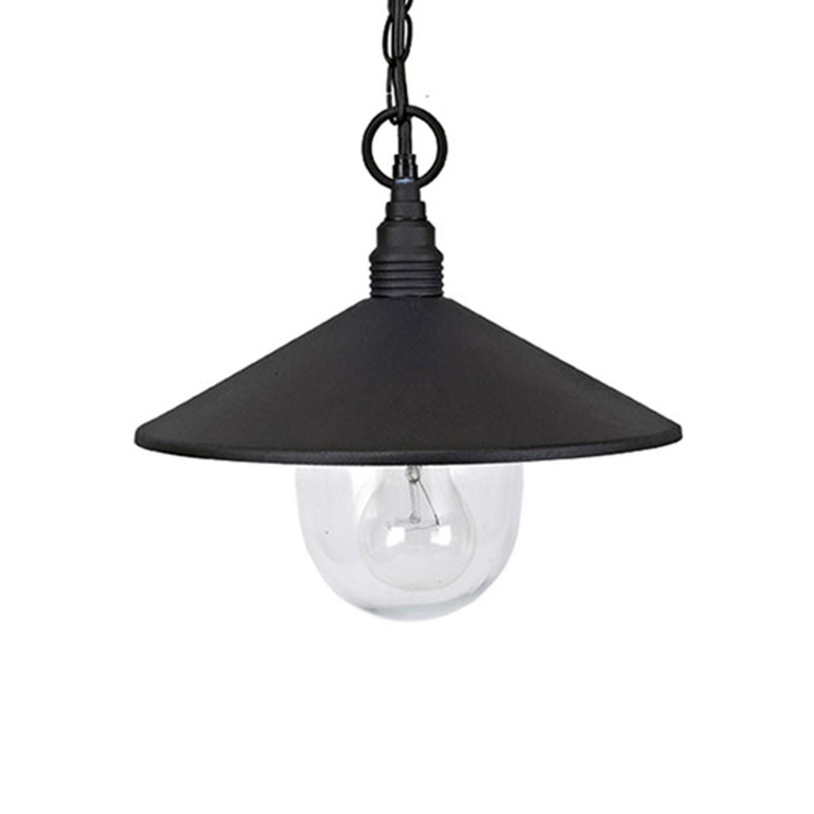 Venkovní závěsné světlo Pilos z hliníku, černé