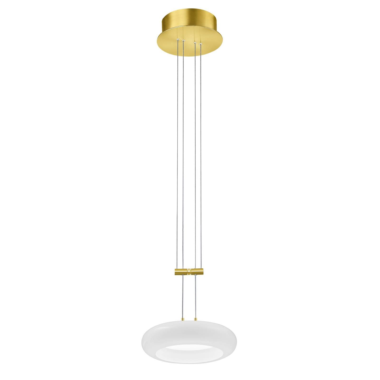 BANKAMP Centa lampa wisząca 1-pkt. 20 cm mosiądz