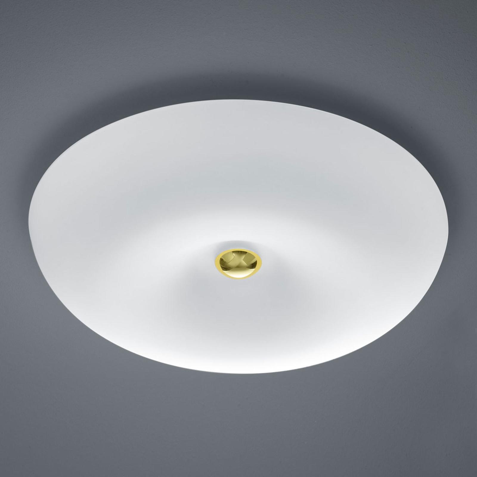 BANKAMP Vanity szklana lampa sufitowa LED, mosiądz